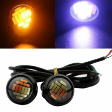 2x White/Amber DC 12V Eagle Eye LED Daytime Running DRL Backup Light Car Lamp