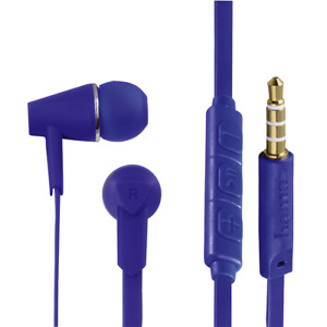 Hama In-Ear Stereo Kopfhörer Joy Blau Headphone Headset Hörer Handy WOW K278-555