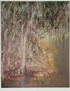 Fine Art Photolithograph By Sidney Nolan Riverbend Series (1982) Panel 8 Of 9