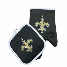 Football New Orleans Saints Oven Mitt & Pot Holder Set Tailgate Bbq Licensed