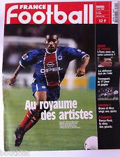 France Football du 12/10/1999; PSg-OM au royaume des artistes/ Trezeguet