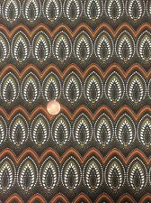 100% Cotton Quilting craft Fabric Origins 793 Feather / Leaf Brn Young Benartex