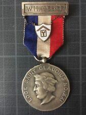 Franc-Maçonnerie Exceptionnelle médaille PM  1re loge de recherche France 1936-7