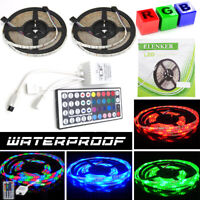 10M(2X5M) 3528 SMD RGB 600 LED Strip Light String Tape+44 Key IR Remote Control