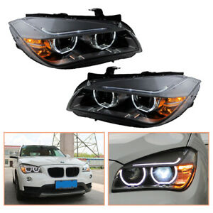 For BMW X1 E84 Headlamps 2013-2015 HID Projector LED DRL Replace OEM Halogen