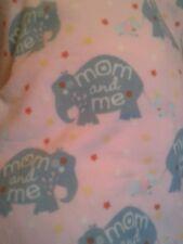 Pink Elephant mommy & me 54x60 fleece personalized Blanket