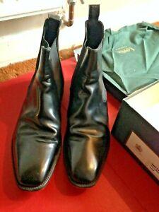 LOAKE Mens Mitchum Legend Chelsea Boots BLACK Leather Size UK 11 VGC