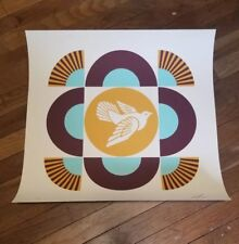 Shepard Fairey Obey Giant Geometric Dove Art print Signed  #ed/300 PCP  MINT
