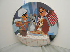 """Lady and the Tramp Plate Collection Bradford Exchange """"First Date"""" # 12502 C"""