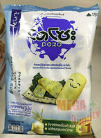 dozo snack japaness rice cracker seaweed flavored crisp delicious free time food