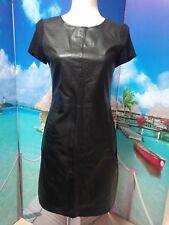 Forcast Size 8 Faux Leather Tunic Dress