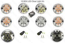 10 RDX CLEAR LED Light Kit 8 Standard Fog Reverse 90/110 Defender 2002 to 2016