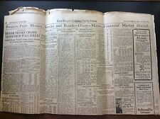 Los Angeles Times 1917 Business Stocks And Bonds Page