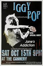 IGGY POP KILL CITY REPO MAN OCT 15 1988 CANNERY A3 CONCERT BILL POSTER PRINT