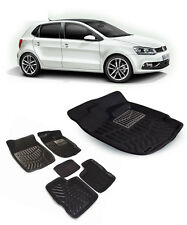 Coozo Car 3d Mat For Volkswagon Polo-Black
