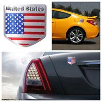 1X US USA Flag Sticker American Emblem Metal Badge Decal Accessories Universal