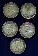 AUSTRALIA  GEORGE V  1923  1 FLORIN  SILVER COINS, MOSTLY VF GROUP LOT OF (5)