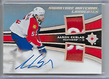 2015-16 ULTIMATE COLLECTION AARON EKBLAD AUTO SIGNATURE DUAL LOGO PATCH 8/40