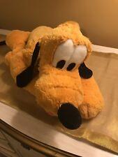 "Disney World 17"" Plush Pluto Dog Laying Soft Large Stuffed Toy"