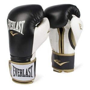 Everlast P00000725 14 Ounce Powerlock Hook & Loop Training Gloves, Black/White