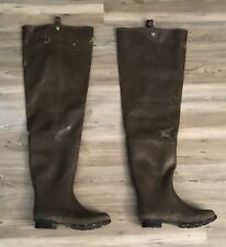 Pro Line Mens Waders Size 9, Rubber Waterproof Steel Shank Insulated Boots