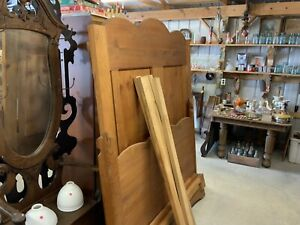 *Queen Size Homemade Butternut Bed Solid Wood Frame