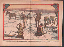 Pêche glace Ice fishing  Greenland Pêche Poisson Groenland  ILLUSTRATION 1934