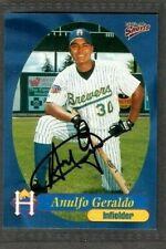 1999 Multi-Ad #18 Anulfo Geraldo Helena Brewers Baseball Signed Autograph (B45)