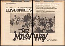THE MILKY WAY__Original 1969 Trade AD promo_poster__LUIS BUNUEL_American Premier