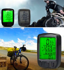 Cycling LCD Bicycle Computer Odometer Waterproof Backlight Bike Cycle Speedomet