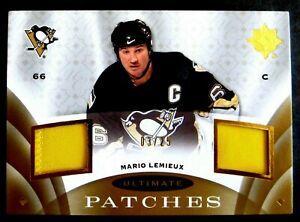 2008-09 MARIO LEMIEUX 08-09 UD ULTIMATE DUAL PATCH CARD #UJ-ML**Nice**