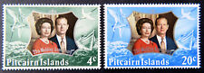 1972 Pitcairn Islands Decimal - Royal Silver Wedding - Set of 2 MNH