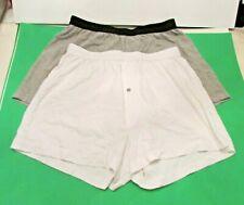 2-pack Jockey Signature Waist Knit Cotton Boxers Button Fly Underwear L (36-38)