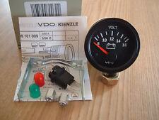 VDO Voltmeter 12V  Cockpit Vision Instrument 52mm Gauge Classic Porsche Oldtimer