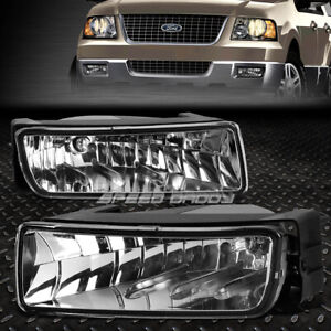 FOR 03-06 FORD EXPEDITION CLEAR LENS BUMPER DRIVING FOG LIGHT REPLACEMENT LAMPS