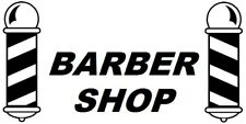large barber pole shop front window barbers poles vinyl sticker sign wall art