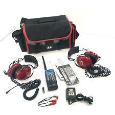 Uniden Bearcat SC200 200 Channel Sports Scanner Two Sets of Race Headsets & Bag