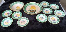 Mid-Century Set of Italian Majolica Lido/Venice Spaghetti Bowl/Platter/Plates