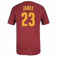 Lebron James NBA Cleveland Cavaliers Player N&n Jersey Wine T-shirt Men's