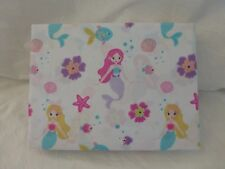 4 pc Authentic Kids Under the Sea with Mermaids Full Sheet Set NIP