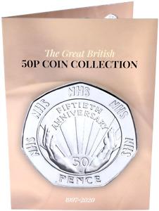 NEW 2020 50p Coin Collectors Album Beatrix NHS Brexit Potter TOKYO KEW Gift  MO