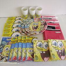 SPONGEBOB PARTY PACK PER 30 bambini con Red Tablecover-Sponge Bob stoviglie
