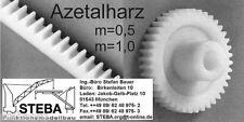 Azetalharz- Stirnzahnrad  Modul 0,5  z=12-20  von STEBA