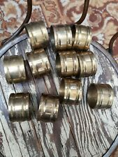Set of 11 Brass Vintage Napkin Rings Holders Tableware Table Linen