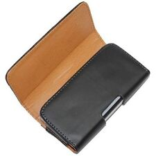 Black PU Leather Case Cover Pouch Belt Clip for Nokia Lumia Phones