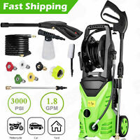 3000PSI 1.8GPM Electric Pressure Washer Home Power Cleaner Machine Sprayer-Green