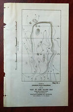 1898 Sketch Map Part of Cow Island Bar Mississippi River