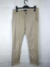 Velours Beige Chinos Pantalon homme taille W32 #84B3