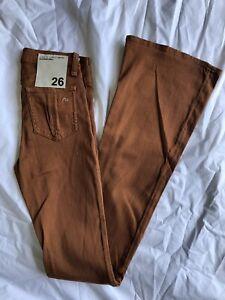 NEW Women's RAG & BONE Elephant Bell Jeans - *Brown/Burnt Orange/Rust - SZ:24-26