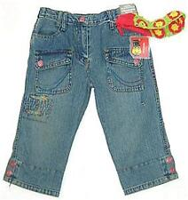 Girls 3/4 blue denim capri shorts w/free sz 5 NEW bnwt